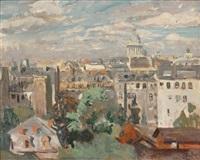 vue des toits de paris depuis l'atelier de l'artiste, rue cassini by lucien simon