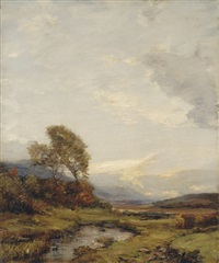 across the highlands, sunset by james campbell noble