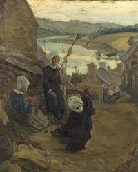 peasant woman by alfred victor fournier