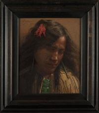 ngatirea (day dreams), natarua hangapa - arawa tribe by charles frederick goldie