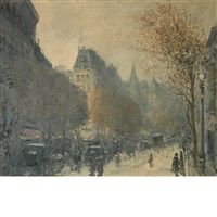 paris boulevard by g. leroux