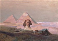 pyramids at giza by hermann vogel