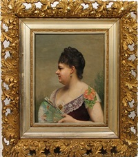 portrait of the artist's mother by auguste pichon