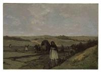mending the nets in the dunes of scheveningen by johannes evert hendrik akkeringa