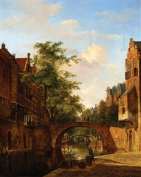 view on the oude gracht in utrecht by kasparus karsen
