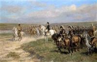 napoléon 1er passant en revue ses troupes by raymond desvarreux-larpenteur