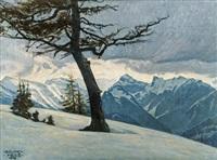 winter in den alpen by bruno hess
