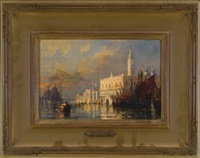 grand canal, san marco, venice by walter franklin lansil