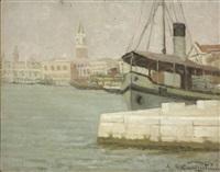 venezia, riva degli schiavoni by ernesto alcide campestrini