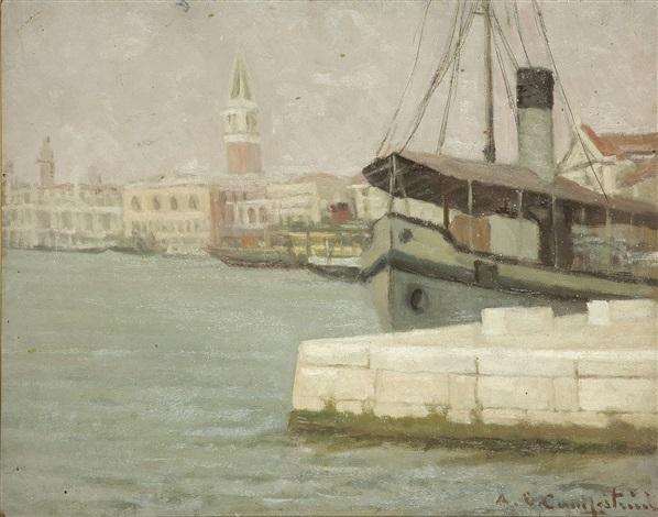 venezia riva degli schiavoni by ernesto alcide campestrini