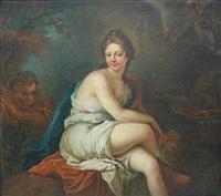 diane au bain by jean-baptiste santerre