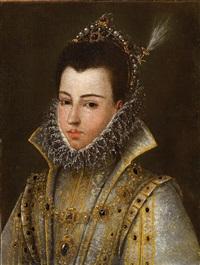 bildnis einer dame, möglicherweise die infantin katharina michaela von spanien by jan kraek