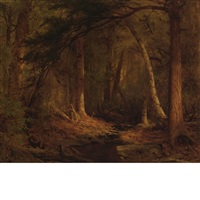 forest interior by jervis mcentee