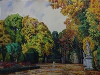 le parc de versailles en automne by tony georges roux
