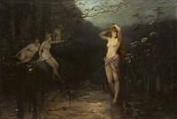 le bain des nymphes by octave alfred saunier