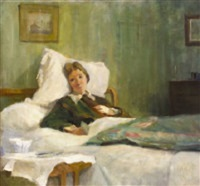 countess markievicz on her deathbed by casimir (count) markievicz