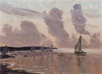 marine au crépuscule by nikolai nikanorovich dubovskoy