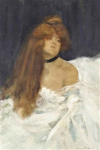 the white dress by lucien victor guirand de scévola