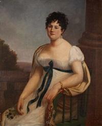 portrait de femme aux fleurs des champs by rosalie grossard