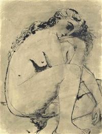 jeune femme nue by paul delvaux