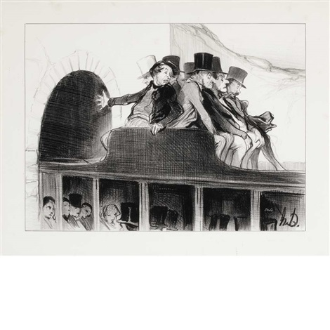 l'entree du grand tunnel d'un chemin de fer by honoré daumier