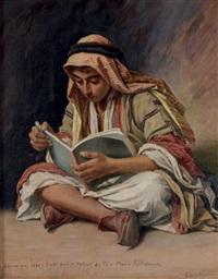 le portrait du père marie ratisbonne (study) by ludovic alleaume