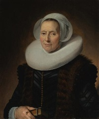 portrait of maritge claesdr. olycan, née vooght by frans hals the elder
