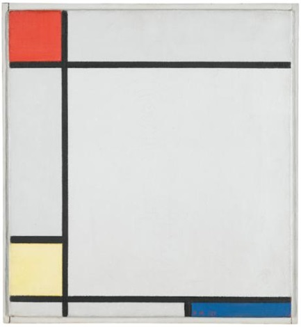 composition with red yellow and blue by piet mondrian