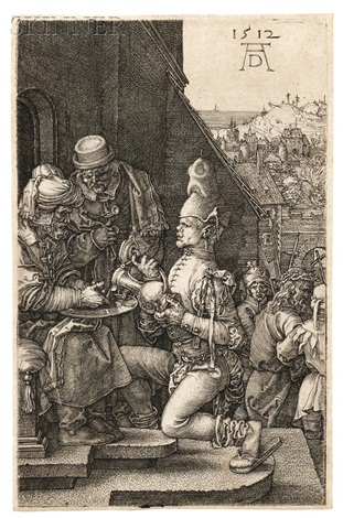 pilate washing his hands from the small engraved passion by albrecht dürer