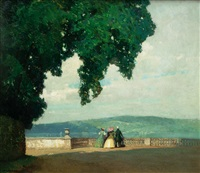 terrace by lake constance by hermann göhler