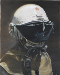 untitled (man with a helmet) by jia aili