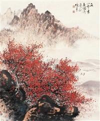 山水 镜片 设色纸本 by li xiongcai