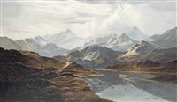 the pitt's head ascent, snowdon by charles leslie