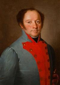 portret mężczyzny w niebieskim mundurze by martin jablonski