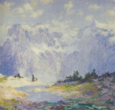 in the high canadian rockies by guy rose