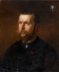 portrait de gaston tissandier by edouard armand-dumaresq