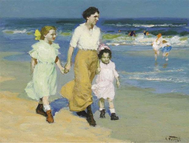 by the sea by edward henry potthast