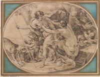 vénus et adonis by michel dorigny
