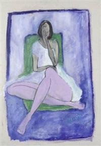siedząca kobieta by joanna sarapata jakimowicz