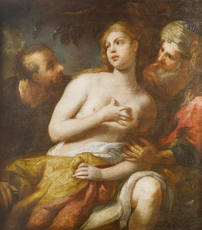 susannah and the elders by bartolomeo biscaino