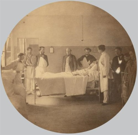 asile impérial de vincennes la visite du médecin by charles nègre