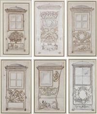 projets de chaises à porteur (6 works) by jean-bernard toro