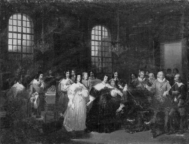 cinq mars prend congé de sa mère pour se rendre au siège de perpignan by hippolyte lecomte