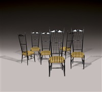 six chaises, modèle chiavari by gio ponti