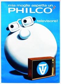 mia moglie aspetta un philco! televisore by armando testa