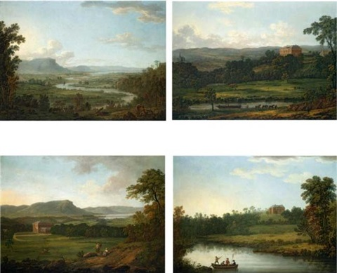 views of the house and grounds at belvoir county down by jonathan fisher