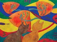kucing dan ikan by nashar