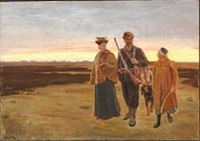 home from the hunt by michael peter ancher