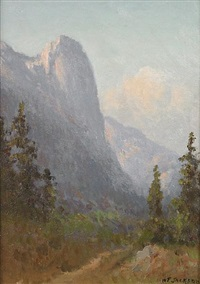 sentinel rock, yosemite by william franklin jackson