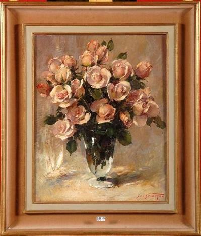 vase de roses by simon van gelderen
